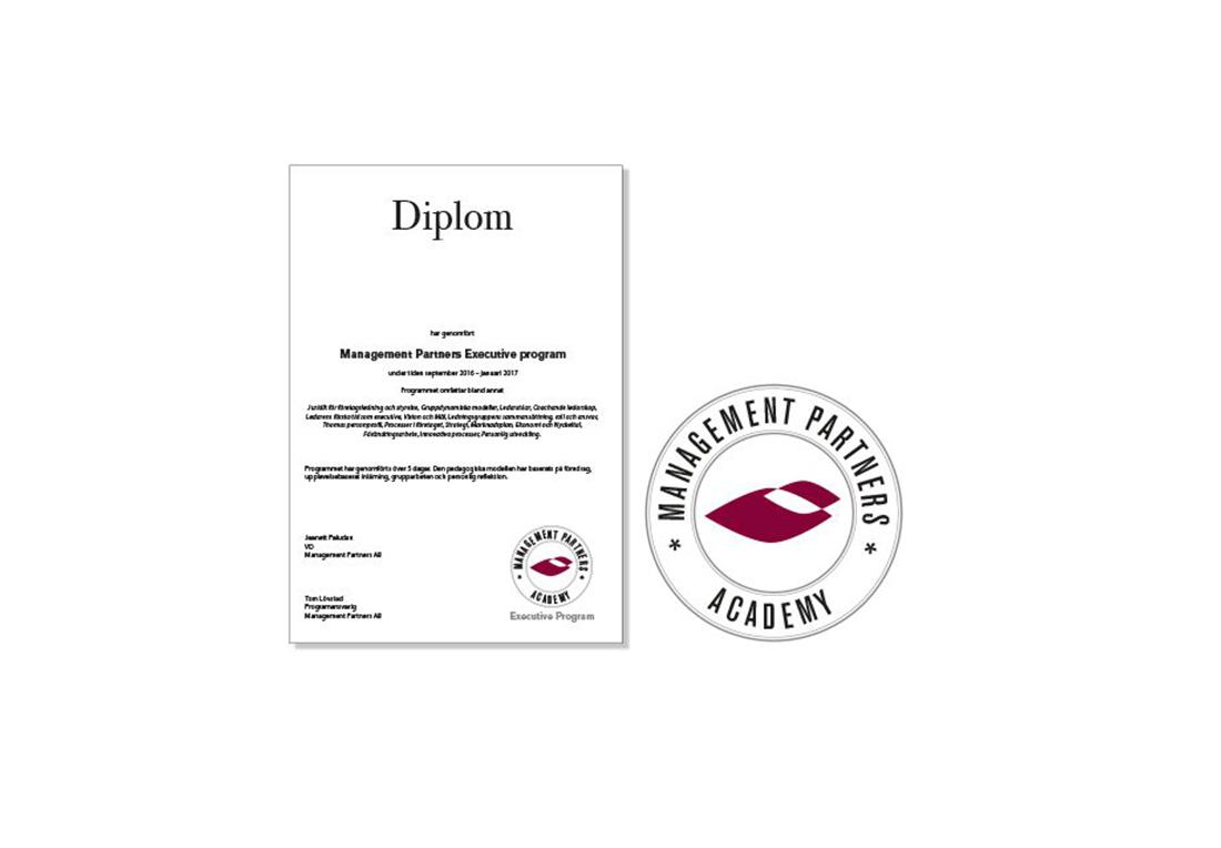 Logotype Och Diplom För Mangement Partners