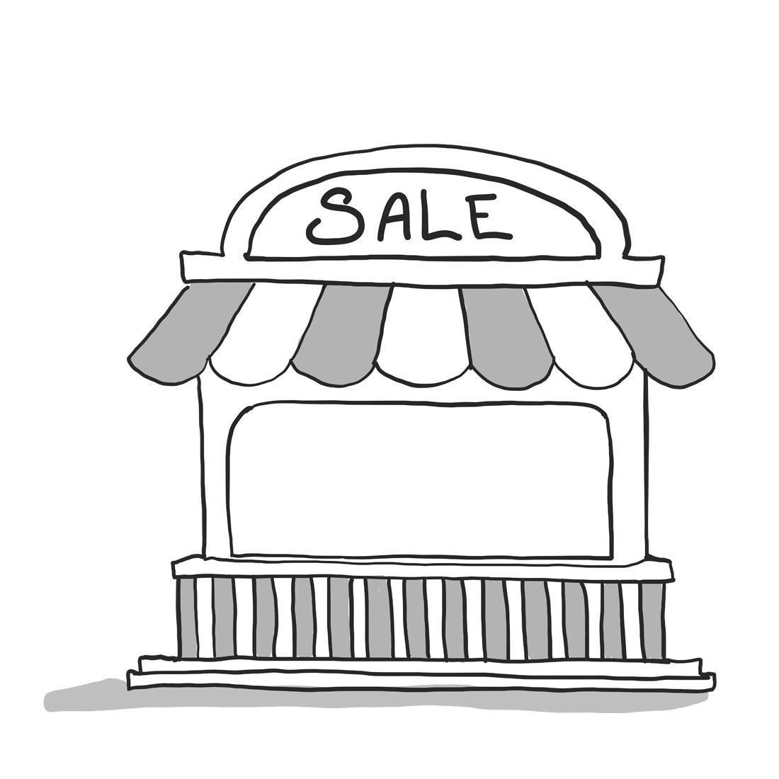 Symbol för säljkanal.
